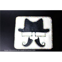 White Appliques Small Rhinestone Iron on Appliques (TM-207 hat)