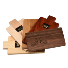 Custom Logo Wood card USB Promotion Gift 1-64GB Capacity Wood USB Card Flash Drive