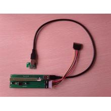 PCI-E 1x to 16x enhanced extender riser card cable