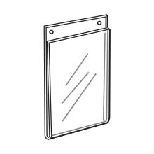 Custom Acrylic Wall Mount Vertical Sign Holders
