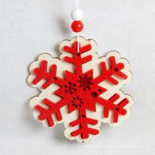 Nouvelle décoration de Noël populaire en bois décoration en forme de rouge de Hang