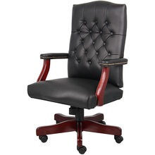 Wood Black Office Computer Arm Living Room Chairs