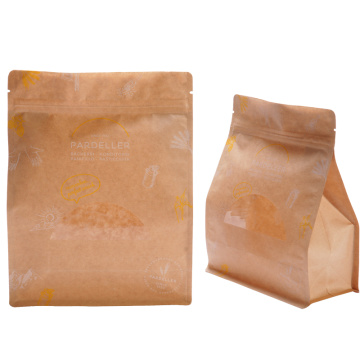 Ziplock Pouch Kraft Paper Bag Packaging Dengan Jendela