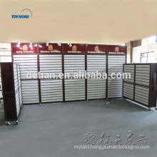 removable luminous acrylic slatwall booth display for exhibition, acrylic slatwall display wall