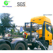 Capacité nominale 499L Cylindre cryogénique Dpl pour transport de camions