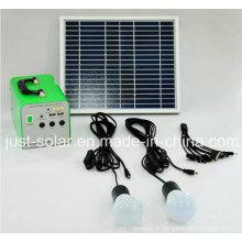 Système d'énergie solaire de la solution de puissance 10W pour la zone d'éclairage