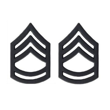 US Army Sierżant Major Black Collar Device Rank