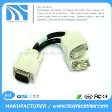 Cable de divisor de DVI de 59pin para dividir la señal de video de su salida de video DMS-59 DVI a dos monitores independientes