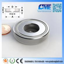 Powerful Neodymium Magnet Ring N40 Pot Rare Earth Magnets