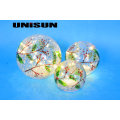 Christmas Decoration Light Glass Craft with Copper String LED Light for Wall Art (18009)