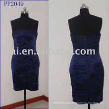 Sexy Navy Blue Velvet Pleated Short Prom Dress PP2049