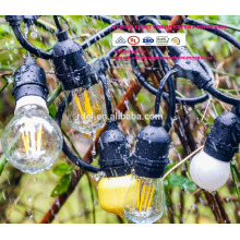 Luzes de corda ao ar livre definir a iluminação de vertente de grau comercial Edison SLT600