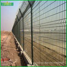 PVC cubrió el aeropuerto Acoplamiento de alambre soldado para la cerca