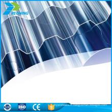 Feuilles en plastique ondulées transparentes et transparentes de qualité supérieure OEM