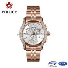 316L Нержавеющая сталь розовое золото Водонепроницаемые часы на заказ