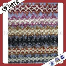 Tissus en dentelle en rideau, décoratifs en dentelle décorative, garnitures en dentelle en perle