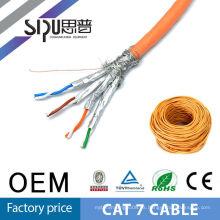 SIPU alta velocidad al por mayor 1000ft stp cat7 cable de red para la comunicación de ethernet