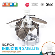 Creative infrared controlled intelligent sensing satellite small rc flying toy airplane