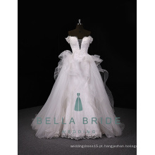 Bridal change dresses royal wedding dresses elegantes vestidos de noiva com trem destacável