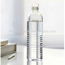 Botella de agua de cristal reciclada borosilicato Pyrex Handblown de la promoción 320ML con la tapa de cadena de manipulación