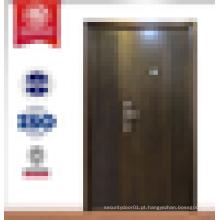 Porta blindada porta de segurança para casa nova design porta de aço de madeira portas exteriores usadas para venda