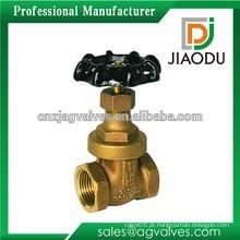 Melhor venda china fabricação CuZn35Pb1 latão assento flange final válvula de portão para óleo