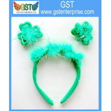 8.5 Green Feather Shamrock Headband
