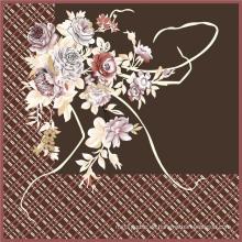 Heißer Verkauf Digitaldruck Seidenblumengewebe (TLD-0049)