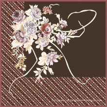 Venda quente de impressão digital tecido de seda de flores (TLD-0049)