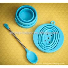 FDA Chine Professionnel Fabricant / Fournisseur / Fabricant Filtre à café pliable en silicone à base de silicone, filtre à café en silicone
