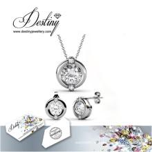 Joyería de destino especialmente de cristal de Swarovski conjunto colgante anillo y pendientes