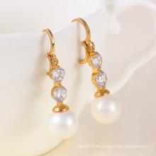 Pendiente elegante perla de moda (23779)