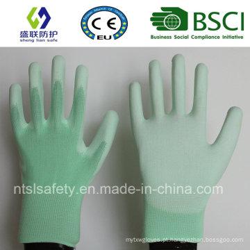Luva de segurança de trabalho revestida de plutônio (SL-PU201G1)