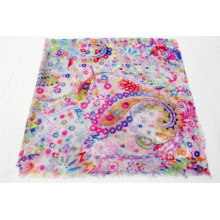 wholesale floral print shawl scarf women hijab colorful small flower print scarf for ladies stylish