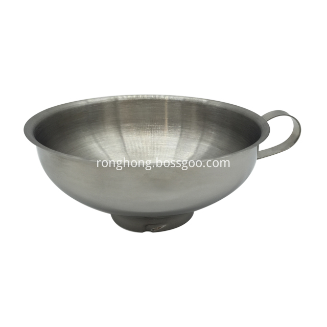 Stainless Steel Jam Funnel With Handle Wide Mouth 1