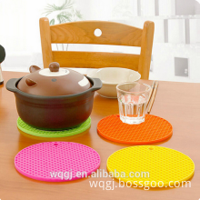 Round Shape Silicone Heat Resistance Pad Silicone Placemat Silicone Pot Mat