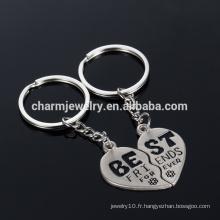 """Meilleur ami Porte-clés cadeaux de mariage """"meilleur"""" chaîne porte-clés à couple pour amoureux YSK011"""