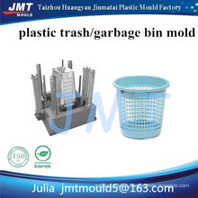 customized high quality waste paper basket bin plastic injection mold manufacturer