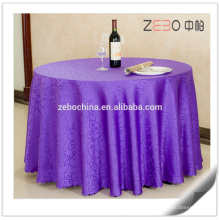 "Different Jacquard Patterns Available Banquet Used 132"" Round Table Cloth"