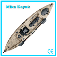 Single Seat Pedal Powered Kayak Fishing Boats Plastic Canoe