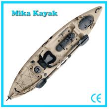 Único assento pedal Powered Kayak barcos de pesca plástico canoa