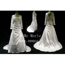 Muslim Taffeta and Chiffon Fabric Low back Wedding Dresses BYB-14590