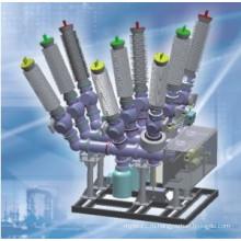 Газовая изоляция Sf6, состоящая из автоматического выключателя