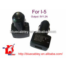 5V1.2A Chargeur voiture USB pour iPhone 5