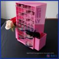 Support d'affichage à lèvres acryliques rotatifs couleur blanc et rose sur mesure