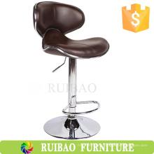 Silla de cuero de la silla de la barra de la manera del taburete del contador del eslabón giratorio