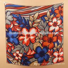 Vente en gros de châle imprimé en soie classique Pashmina