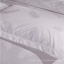 2016 Xangai Fabricantes de Alta Qualtity 100% Algodão Branco Capa de Edredão Barato