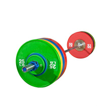 Gym Weight Lifting Power Rich Black Rubber Bumper Plate