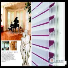 Home Decoration Double Layer Fabric Motorisierte Shangri-la Blinds für Windows